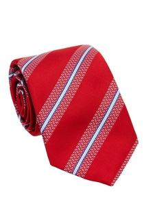 Красный галстук в полоску Canali