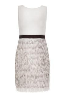Мини-платье с бахромой и пайетками Mila Marsel