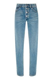 Голубые джинсы с выбеливанием Balenciaga