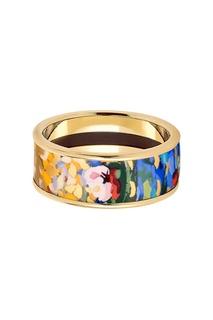 Золотистое кольцо с эмалью Freywille