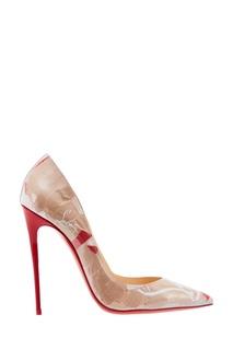 Бежевые туфли с принтом So Kat 120 Christian Louboutin