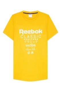 Хлопковая футболка с логотипом Reebok