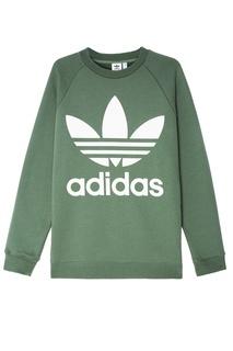 Хлопковый свитшот с контрастным логотипом Adidas