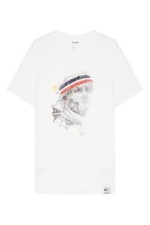 Хлопковая футболка с цветным принтом Reebok