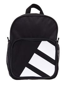 Черный рюкзак с контрастным принтом Adidas