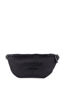 Черная сумка на пояс Adidas