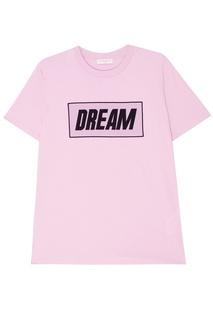 Сиреневая футболка с надписью Sandro