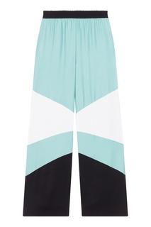 Широкие брюки с контрастной отделкой Maje