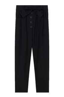 Черные брюки с поясом Maje
