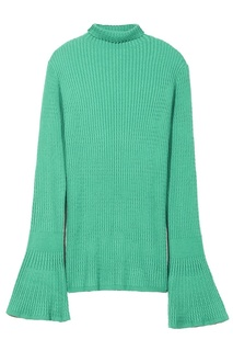 Фактурный зеленый свитер Sandro