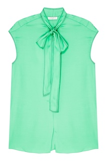 Зеленая блуза без рукавов Sandro