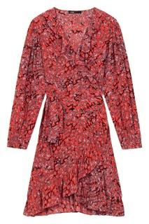 Платье-миди с цветной отделкой Maje