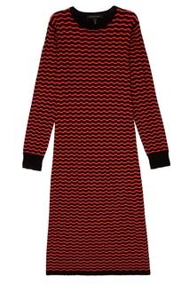Шерстяное платье с контрастным узором Marc Jacobs