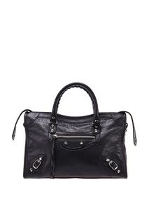 Черная сумка из мягкой кожи Balenciaga