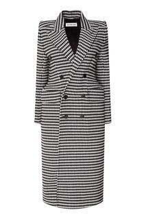 Двубортное пальто с шерстью Balenciaga