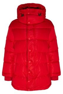 Красный стеганый пуховик Balenciaga