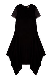 Платье с прозрачными рукавами Biryukov