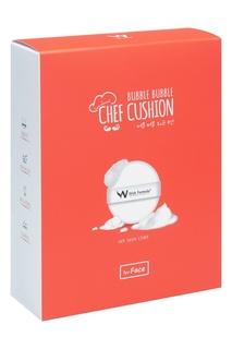 Набор для ухода за кожей лица Bubble Bubble Chef Cushion (спонж + сыворотка с витамином С) Wish Formula