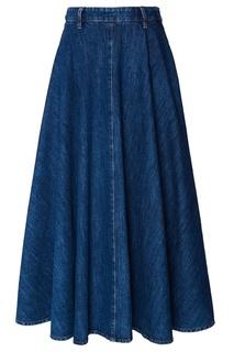 Длинная джинсовая юбка Miu Miu