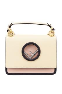 Кожаная сумка с цепочками Fendi