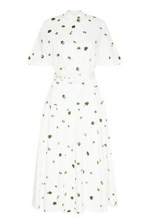 Белое платье с принтом Akhmadullina Dreams