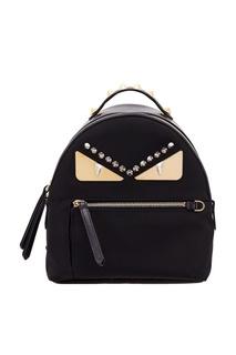 Черный рюкзак с заклепками Fendi