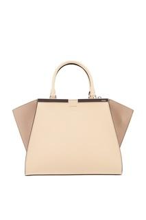 Бежевая сумка из кожи Fendi
