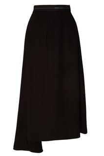 Черная юбка со складками Prada