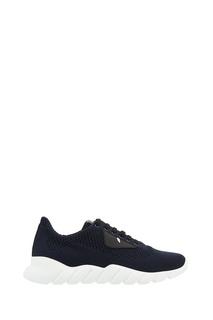 Синие кроссовки из текстиля Fendi