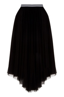 Прозрачная черная юбка-макси ЛИ ЛУ