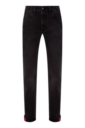 Черные прямые джинсы