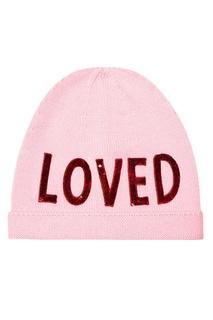 Розовая шапка с пайетками Gucci