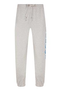 Серые меланжевые брюки Gucci