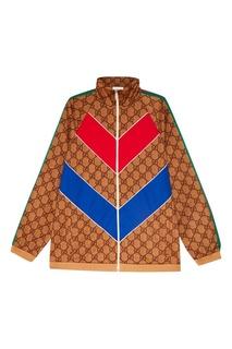 Олимпийка из джерси с монограммами Gucci