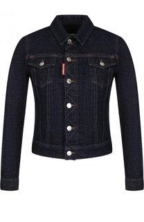 Джинсовая куртка с контрастной прострочкой Dsquared2