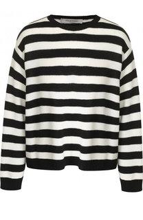 Кашемировый пуловер в полоску с бантом Valentino