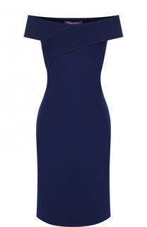 Приталенное платье с открытыми плечами Ralph Lauren