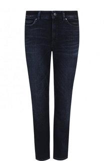 Укороченные джинсы с потертостями Escada Sport