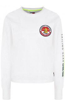 Хлопковый пуловер с логотипом бренда Tommy Hilfiger