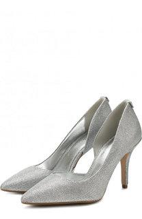 Туфли из металлизированного текстиля на шпильке MICHAEL Michael Kors