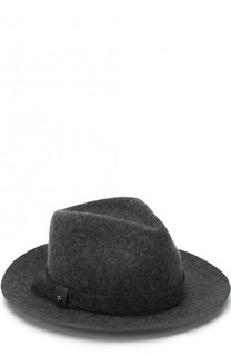 Шерстяная шляпа с ремешком Emporio Armani
