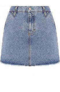 Джинсовая мини-юбка с бахромой Tommy Hilfiger