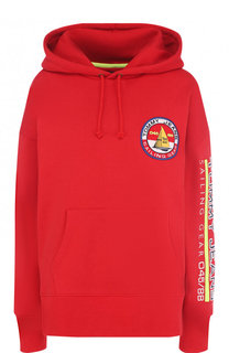 Хлопковый пуловер с капюшоном и логотипом бренда Tommy Hilfiger