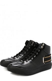 Высокие кожаные кеды Argyle на шнуровке Jimmy Choo