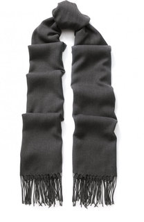 Однотонный шарф с бахромой Emporio Armani