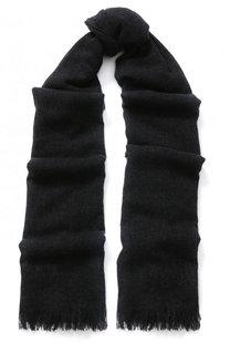 Кашемировый шарф с необработанным краем Emporio Armani