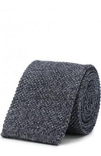 Шелковый вязаный галстук Emporio Armani