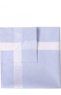 Хлопковый платок с контрастной отделкой Simonnot-Godard