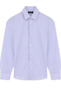 Хлопковая рубашка с воротником кент Dal Lago