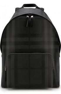 Рюкзак в клетку London Check с внешним карманом на молнии Burberry